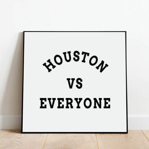 Houston vs Everyone Print: Modern Art Prints by Culver and Cambridge
