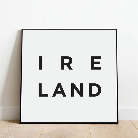 Minimalist Ireland Print: Modern Art Prints by Culver and Cambridge