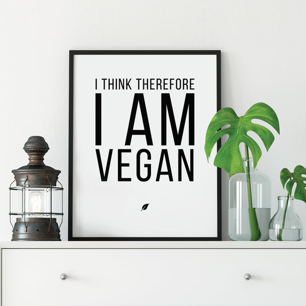 I Think Therefore I am Vegan Print: Modern Art Prints by Culver and Cambridge