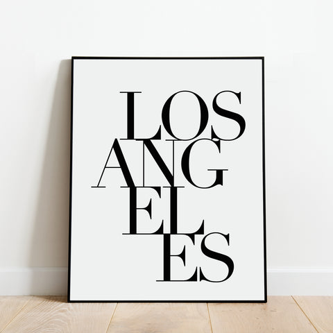 Serif Los Angeles Print: Modern Art Prints by Culver and Cambridge