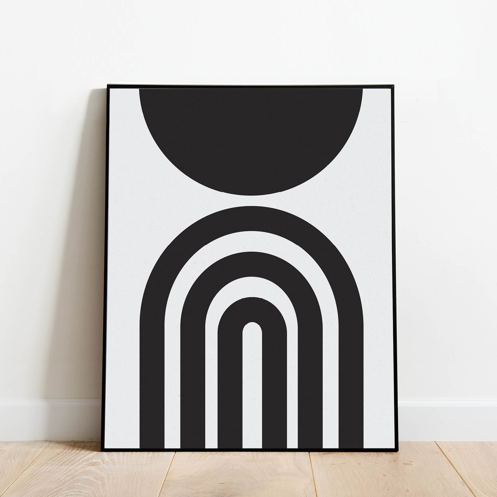Rainbow and Moon Mid Century Modern Abstract Print: Modern Art Prints by Culver and Cambridge