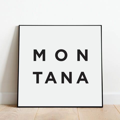 Minimalist Montana Print: Modern Art Prints by Culver and Cambridge