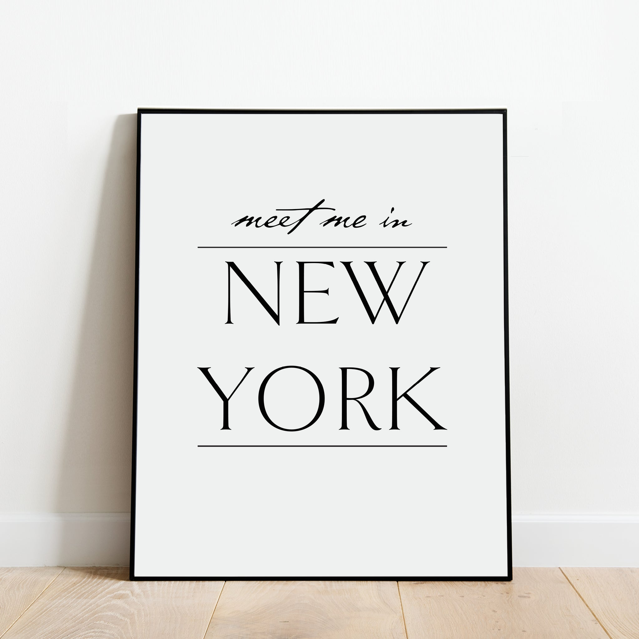 Meet Me in New York Print: Modern Art Prints by Culver and Cambridge