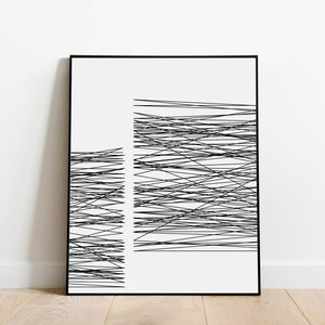 Black and White Lines Print: Modern Art Prints by Culver and Cambridge