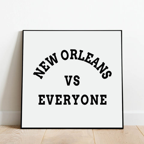 New Orleans vs Everyone Print: Modern Art Prints by Culver and Cambridge