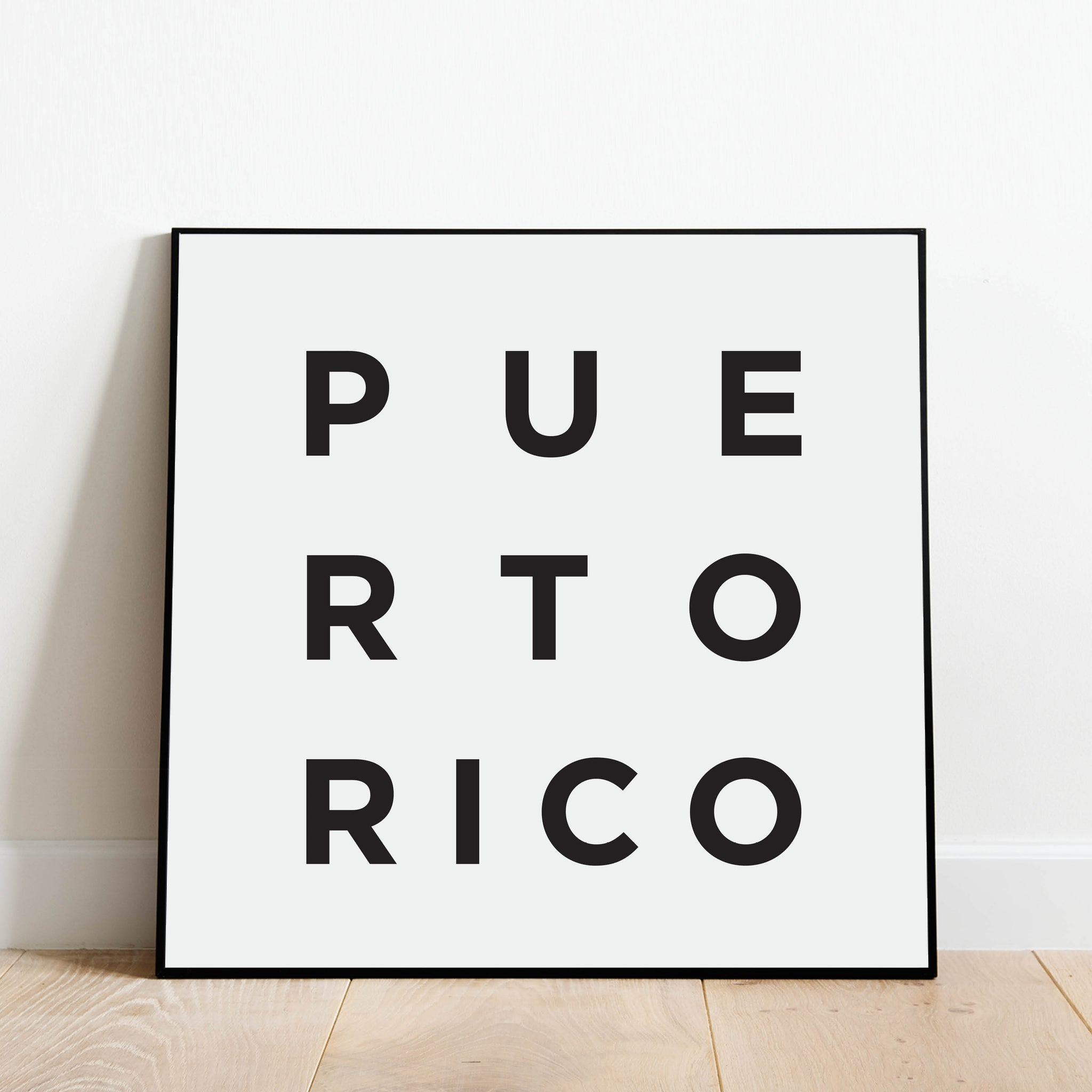 Minimalist Puerto Rico Print: Modern Art Prints by Culver and Cambridge