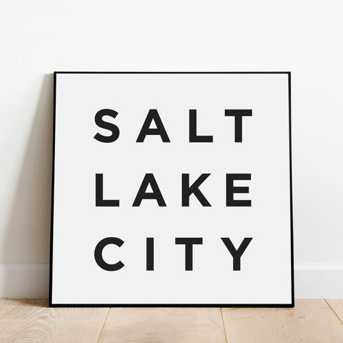 Minimalist Salt Lake City Print: Modern Art Prints by Culver and Cambridge