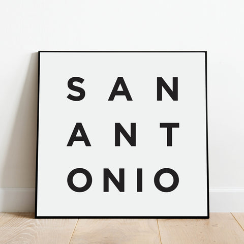 Minimalist San Antonio Print: Modern Art Prints by Culver and Cambridge