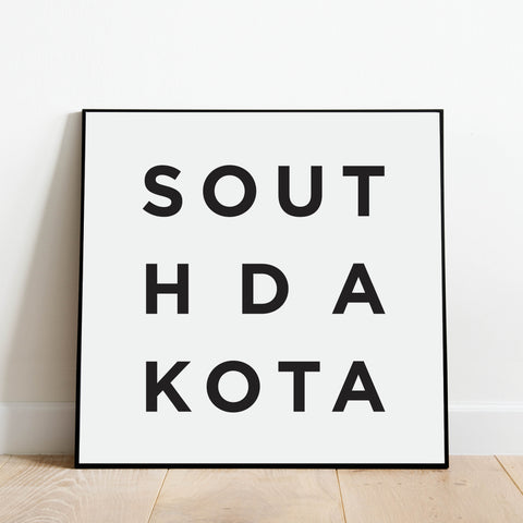 Minimalist South Dakota Print: Modern Art Prints by Culver and Cambridge