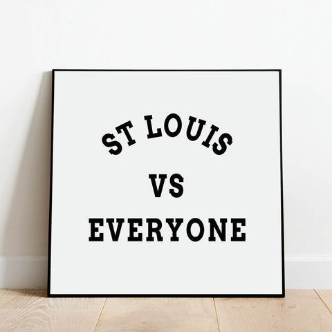 St Louis vs Everyone Print: Modern Art Prints by Culver and Cambridge