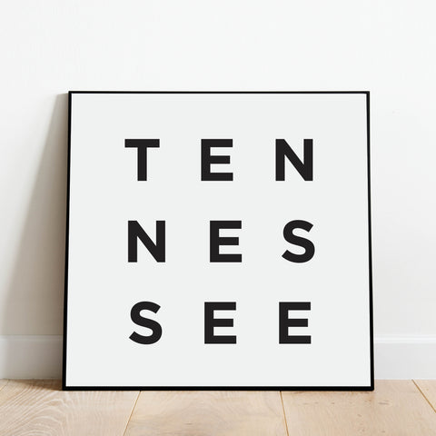 Minimalist Tennessee Print: Modern Art Prints by Culver and Cambridge