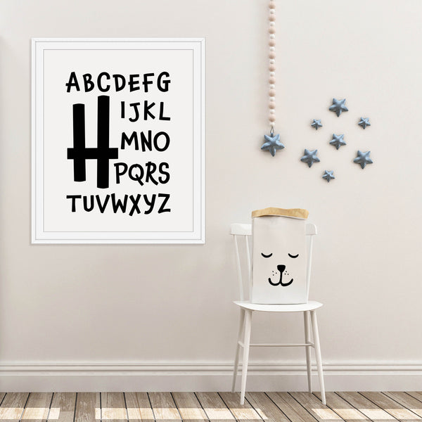Letter H Nursery Print: Modern Art Prints by Culver and Cambridge