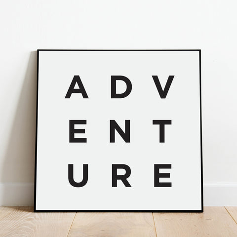 Minimalist Adventure Print: Modern Art Prints by Culver and Cambridge