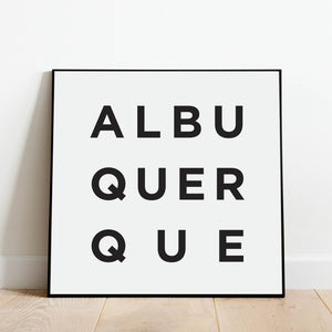 Minimalist Albuquerque Print: Modern Art Prints by Culver and Cambridge