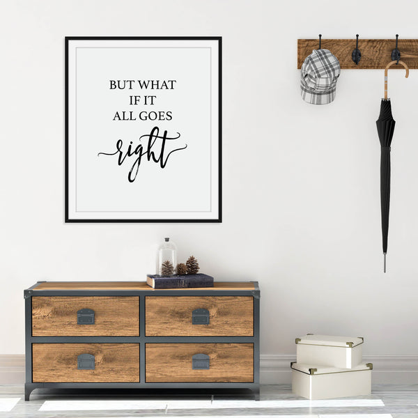 What If It All Goes Right Print: Modern Art Prints by Culver and Cambridge