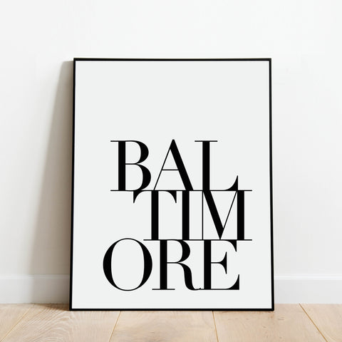 Serif Baltimore Print: Modern Art Prints by Culver and Cambridge