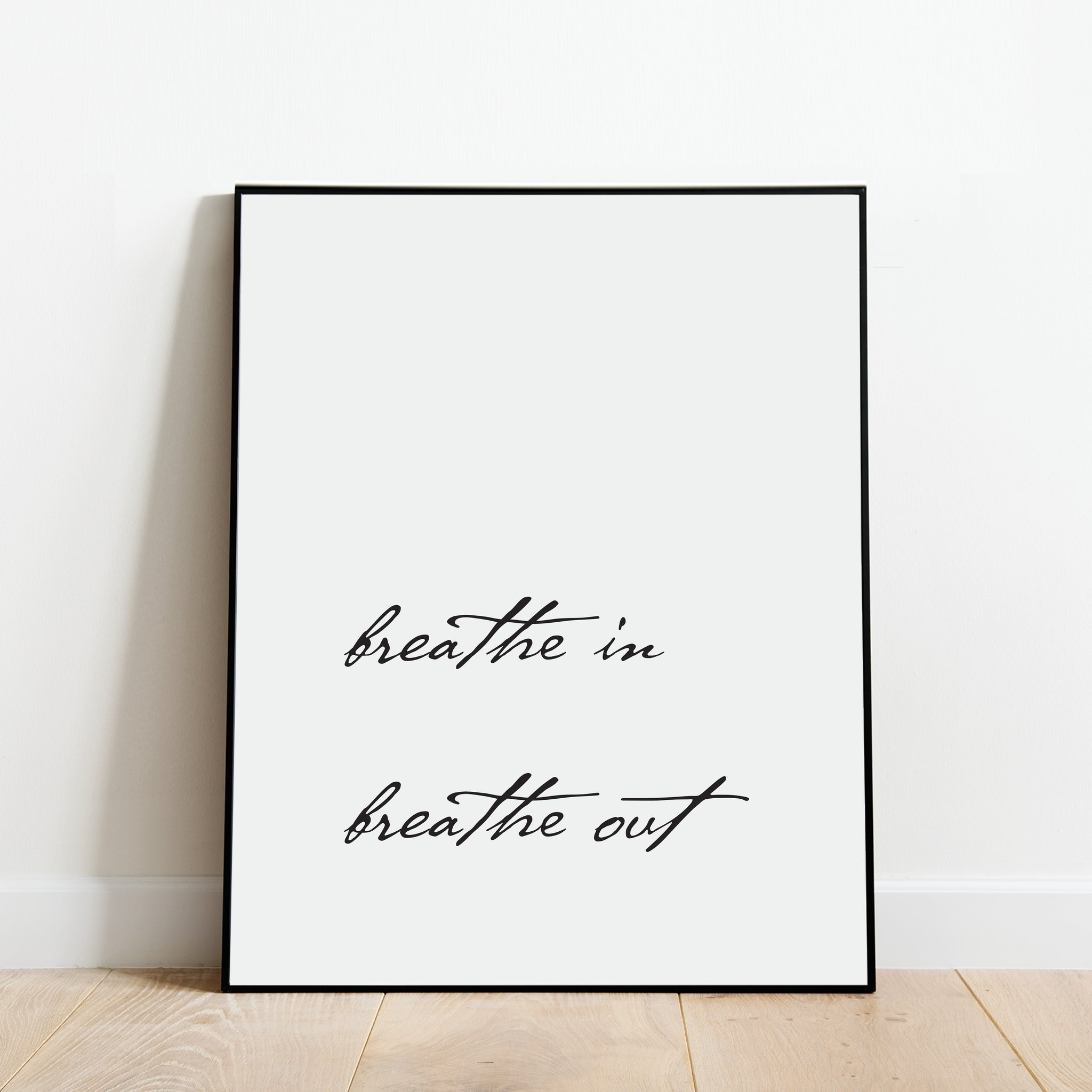 Breathe In Breathe Out Print: Modern Art Prints by Culver and Cambridge