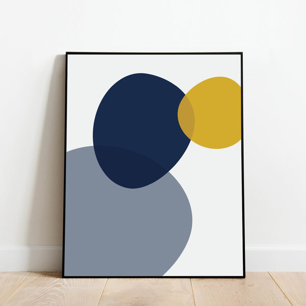 Blue and Yellow Abstract Print: Modern Art Prints by Culver and Cambridge
