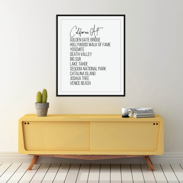 California AF Print: Modern Art Prints by Culver and Cambridge