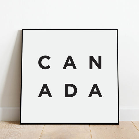 Minimalist Canada Print: Modern Art Prints by Culver and Cambridge