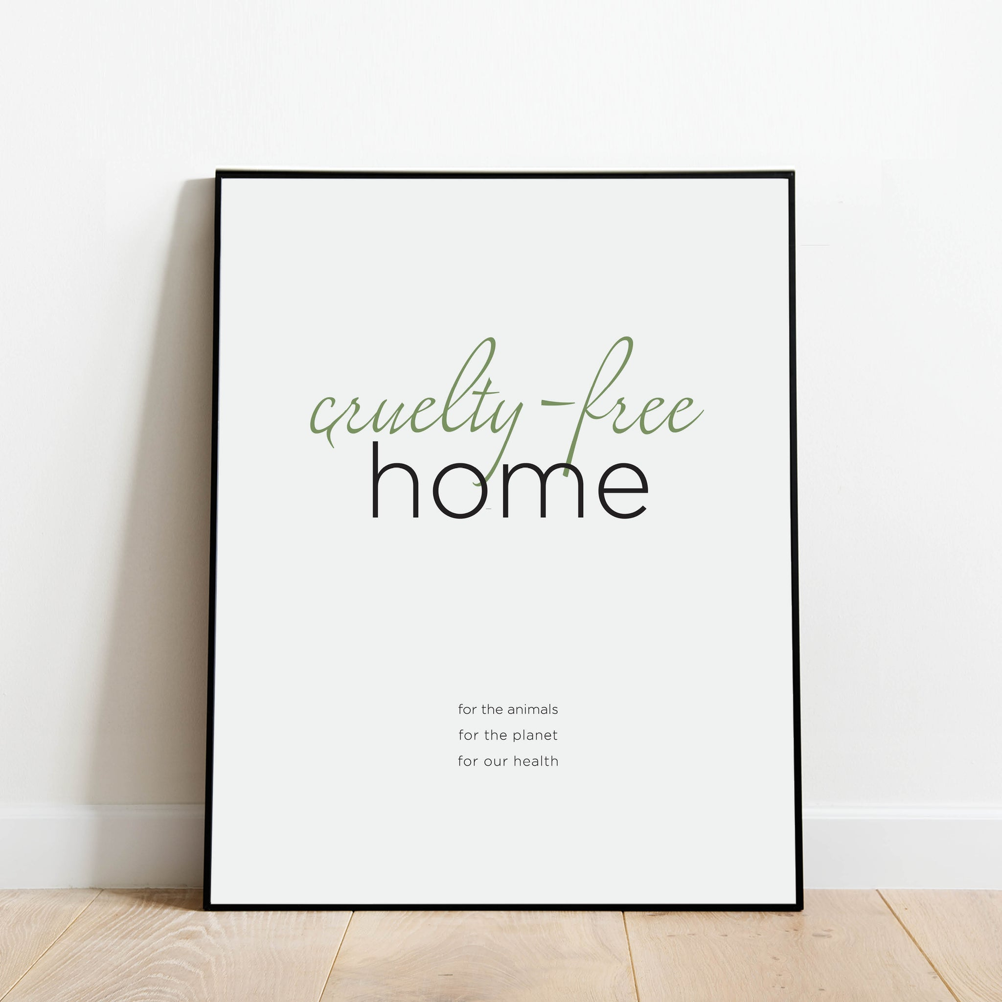 Cruelty-Free Home Vegan Print: Modern Art Prints by Culver and Cambridge