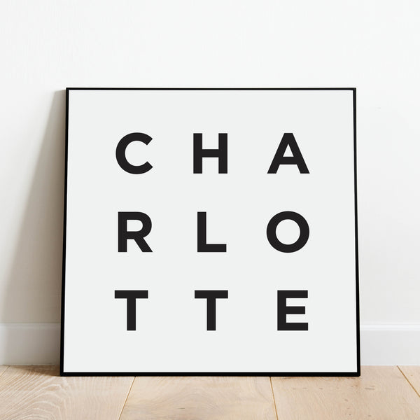 Minimalist Charlotte Print: Modern Art Prints by Culver and Cambridge
