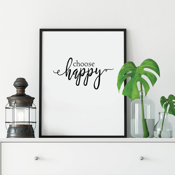 Choose Happy Print: Modern Art Prints by Culver and Cambridge