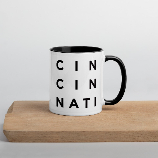 Minimalist Cincinnati Mug: Minimalist Art Prints and Gifts