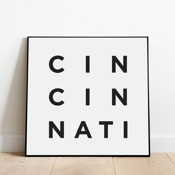 Minimalist Cincinnati Print: Modern Art Prints by Culver and Cambridge