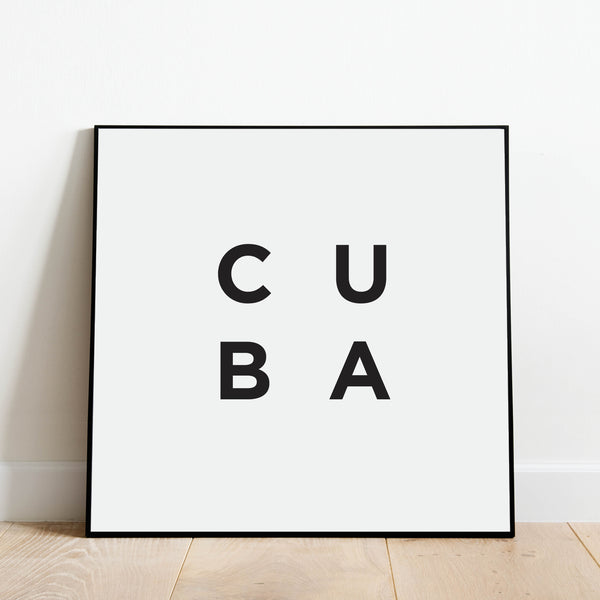 Minimalist Cuba Print: Modern Art Prints by Culver and Cambridge