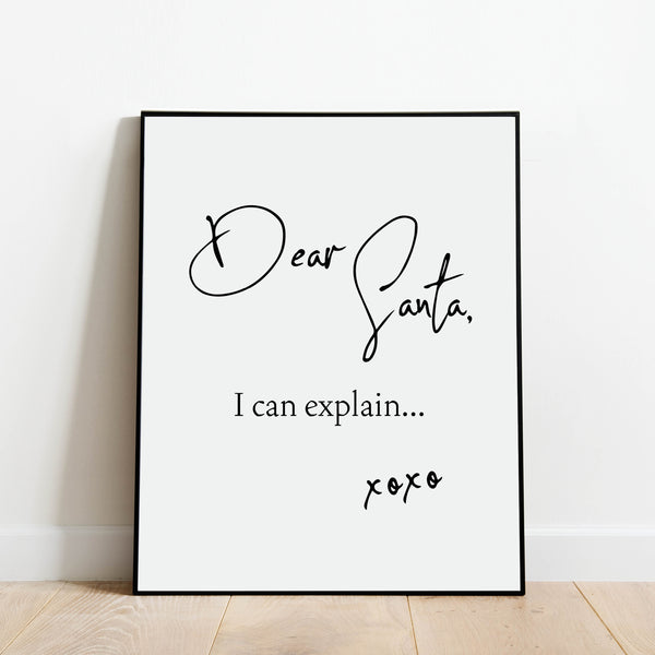 Dear Santa, I Can Explain Print: Modern Art Prints by Culver and Cambridge