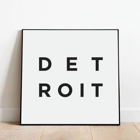 Minimalist Detroit Print: Modern Art Prints by Culver and Cambridge