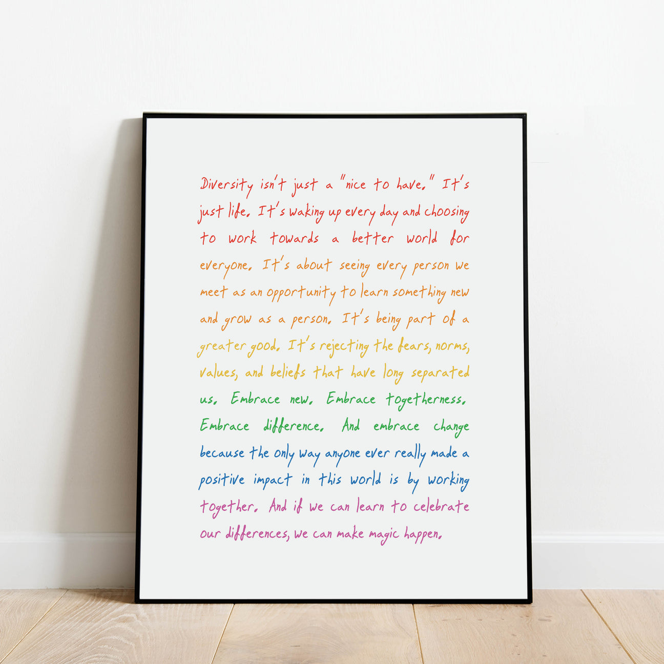 Embrace Differences - Diversity and Inclusion Print by Culver and Cambridge