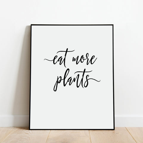 Eat More Plants Vegan Print: Modern Art Prints by Culver and Cambridge
