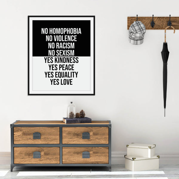 Yes Kindness Print: Modern Art Prints by Culver and Cambridge