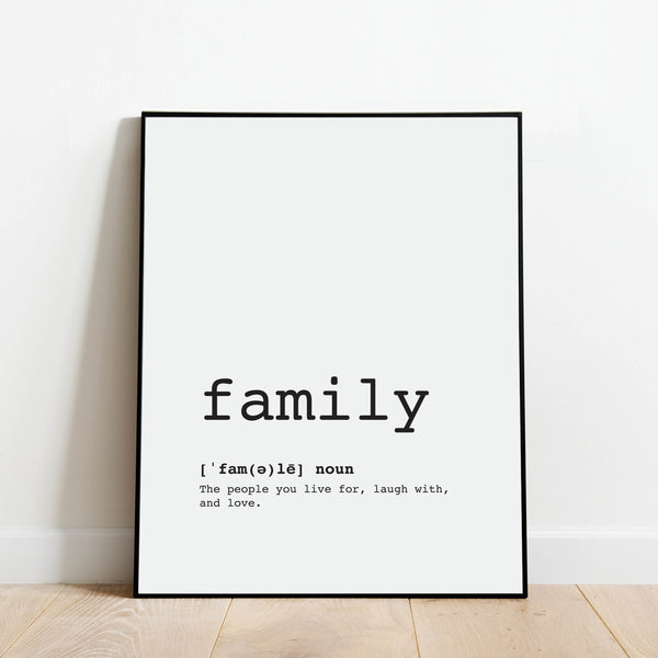 Family Definition Print: Modern Art Prints by Culver and Cambridge