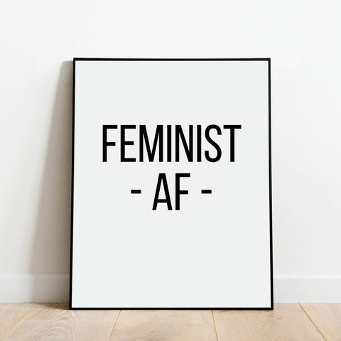 Feminist AF Print: Modern Art Prints by Culver and Cambridge