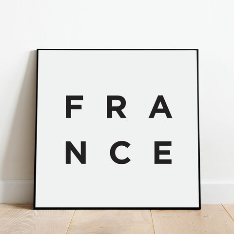 Minimalist France Print: Modern Art Prints by Culver and Cambridge