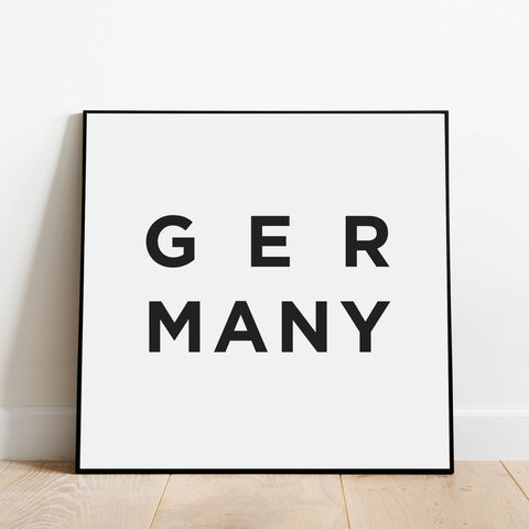 Minimalist Germany Print: Modern Art Prints by Culver and Cambridge