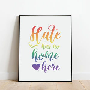 Hate Has No Home Here Print: Modern Art Prints by Culver and Cambridge