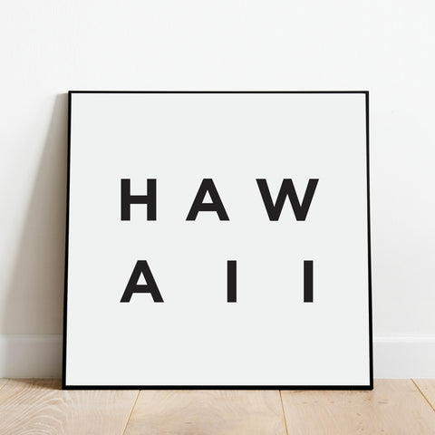 Minimalist Hawaii Print: Modern Art Prints by Culver and Cambridge