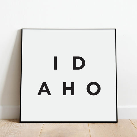 Minimalist Idaho Print: Modern Art Prints by Culver and Cambridge