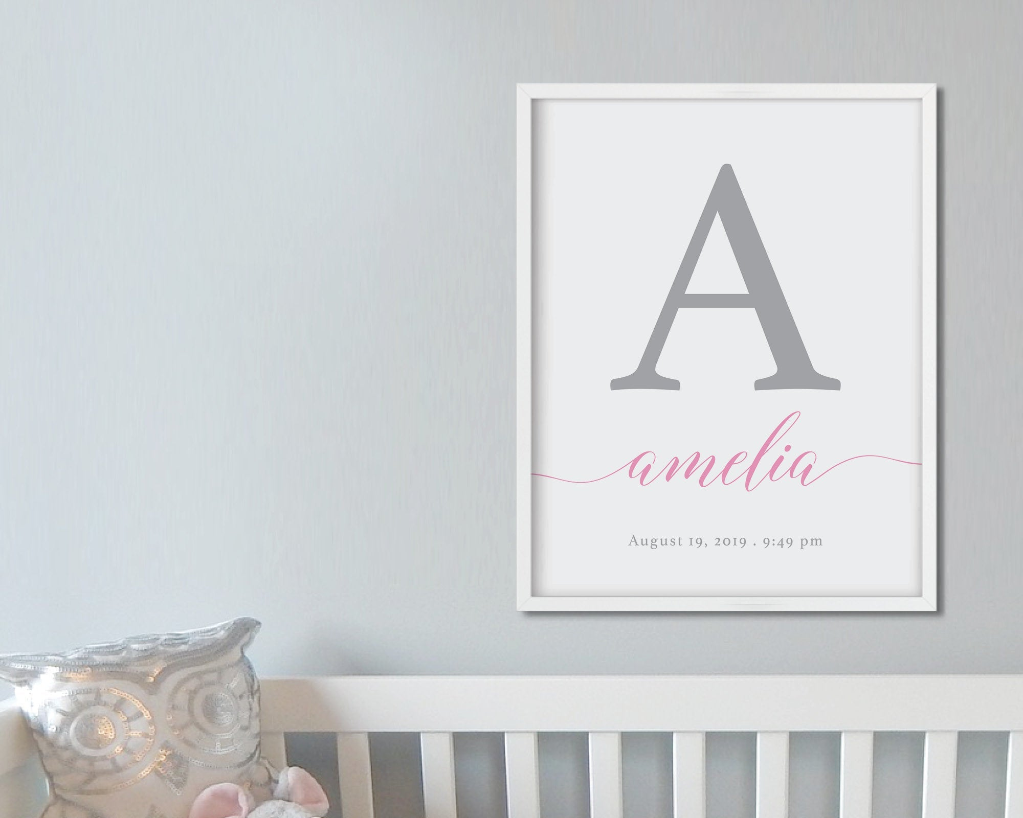 Custom Baby Name Print: Modern Art Prints by Culver and Cambridge