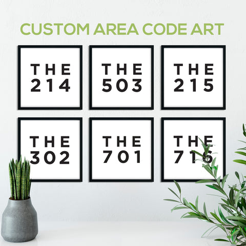 Custom Area Code Print: Modern Art Prints by Culver and Cambridge