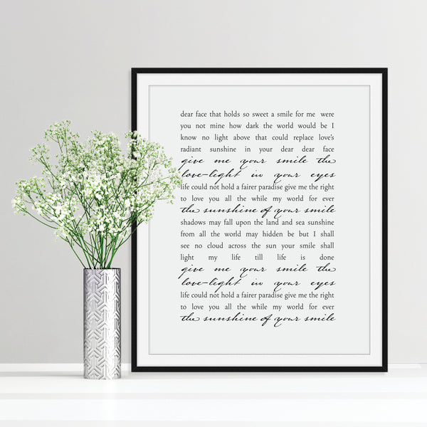 Custom Song Lyrics Print: Modern Art Prints by Culver and Cambridge