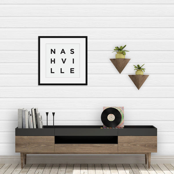 Minimalist Nashville Print: Modern Art Prints by Culver and Cambridge