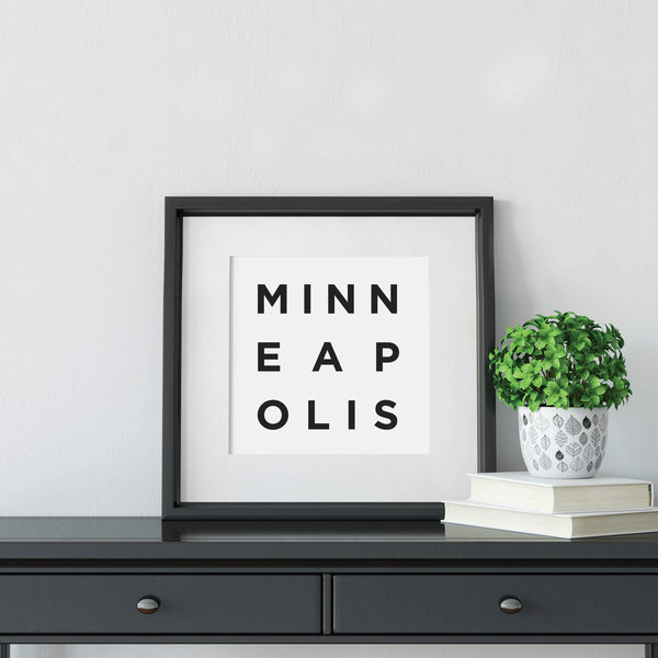 Minimalist Minneapolis Print: Modern Art Prints by Culver and Cambridge