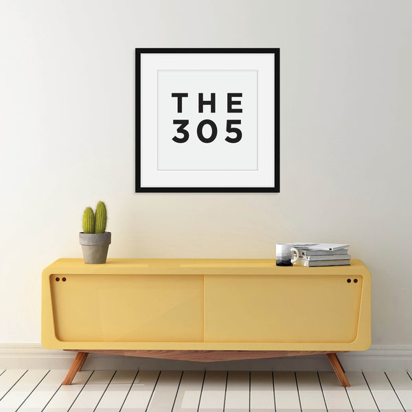 The 305 - Miami Area Code Print: Modern Art Prints by Culver and Cambridge