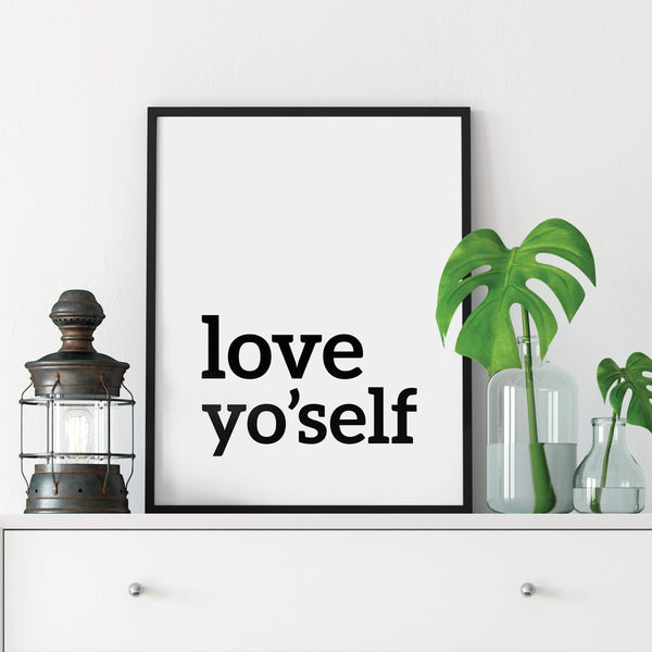 Love Yo'self Inspirational Print: Modern Art Prints by Culver and Cambridge