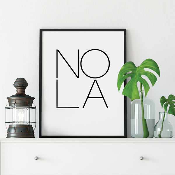 NOLA New Orleans Print: Modern Art Prints by Culver and Cambridge